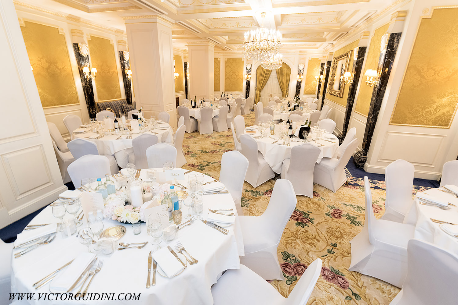 Wedding set up at the Bentley Hotel London
